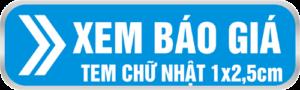 Bảng giá in tem bảo hành 1x2,5cm