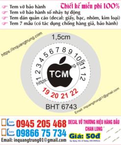 In tem bảo hành điện thoại chất lượng cao