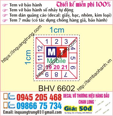 In tem bảo hành giá rẻ tại Hải Phòng giá 50đ, làm mẫu nice và đương nhiên là miễn phí 100%, giao tem tận nơi