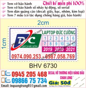 In tem bảo hành giá rẻ tại an gian, thiết kế miễn phí