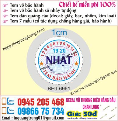 In tem bảo hành ở Hải Phòng giá rẻ 50đ, làm mẫu cực chất & miễn phí 100%, giao hàng nhận nhà free nội thành Hà Nội