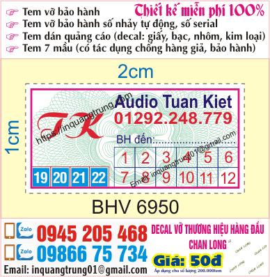 In tem bảo hành ở Quảng Ninh | In tem vỡ ở Quảng Ninh