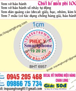 In tem bảo hành tại Bình Định