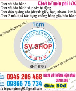In tem bảo hành tại Bình Thuận