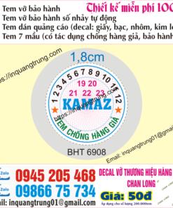 In tem bảo hành tại Cao Bằng