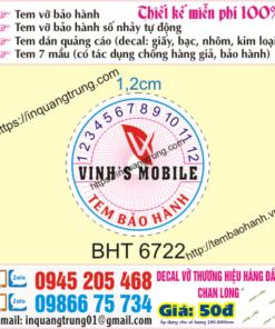In tem bảo hành tại Đắk Lắk