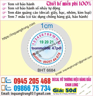 In tem bảo hành tại Hà Giang