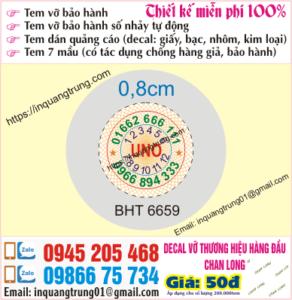 In tem bảo hành tại Hậu Giang