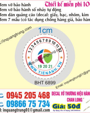 In tem bảo hành tại Khánh Hòa