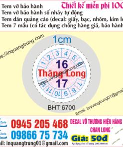 In tem bảo hành tại Kiên Giang