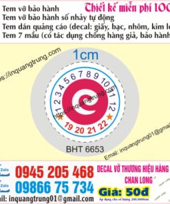 In tem bảo hành tại Lai Châu