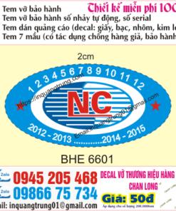 In tem bảo hành tại Lạng Sơn