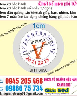 In tem bảo hành tại Phú Yên