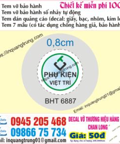 In tem bảo hành tại Quảng Nam