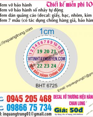 In tem bảo hành tại Quảng Ngãi