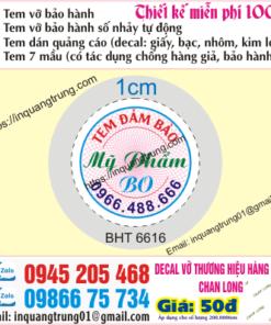 In tem bảo hành tại Quảng Ninh