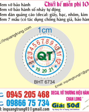 In tem bảo hành tại Sơn La