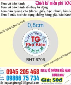 In tem bảo hành tại Tây Ninh