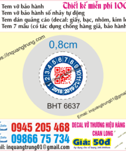 In tem bảo hành tại Thái Bình với giá 50đ, dựng mẫu độc đáo and miễn phí hoàn toàn, giao tem nhận nhà