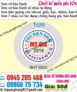 In tem bảo hành tại Thanh Hóa