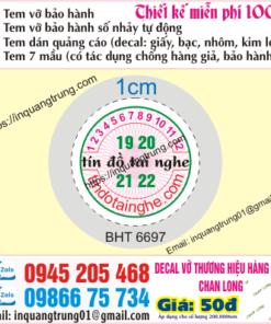 In tem bảo hành tại Thừa Thiên Huế
