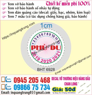 In tem bảo hành tại Tuyên Quang