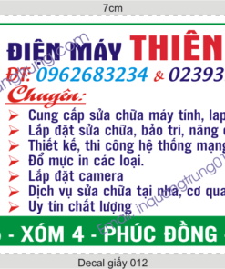In tem decal giấy