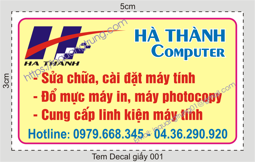 In tem decal giấy giá rẻ
