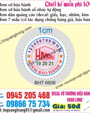 In tem vỡ bảo hành tại Bắc Ninh