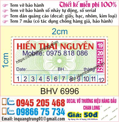 In tem vỡ giá rẻ nhất Việt Nam 50đ