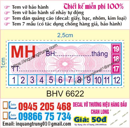 In tem vỡ giá rẻ tại Bắc Ninh