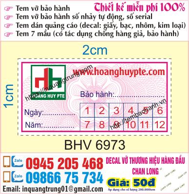 In tem vỡ, in tem vỡ bảo hành tại Hà Nội