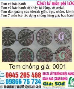In tem 7 mầu chống giả tại Hà Nội