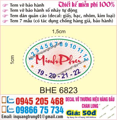 Công ty in ấn tem bảo hành tại Hà Nội