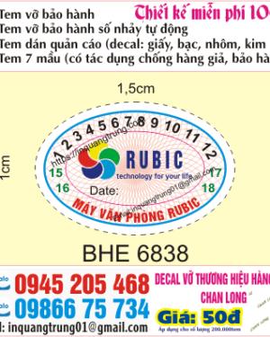 Địa chỉ in tem bảo hành