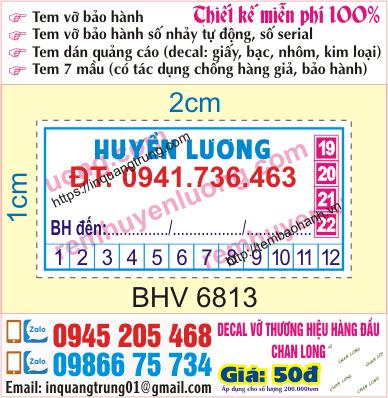In ấn tem bảo hành giá tốt 50đ, thiết kế độc đáo & miễn phí 100%, giao hàng tận nơi