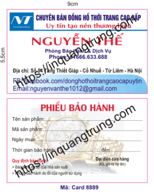 In card visit tại An Giang