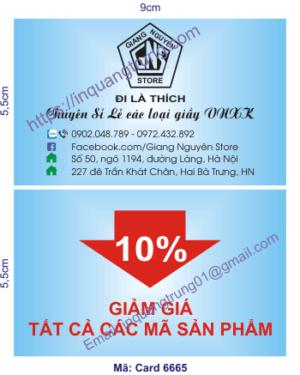In card visit tại Bắc Giang