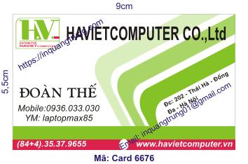 In card visit tại Cần Thơ