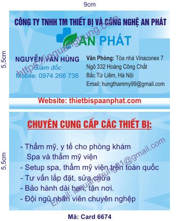 In card visit tại Đắk Lắk