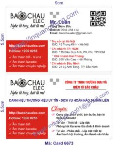 In card visit tại Đắk Nông