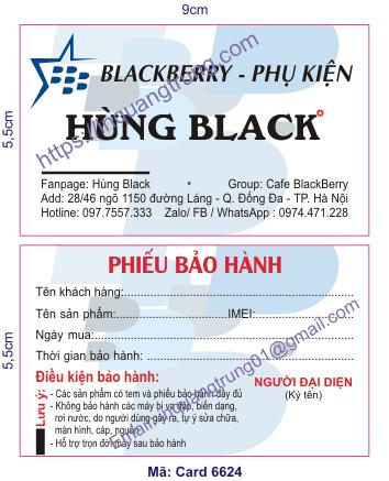 In card visit tại Hà Tĩnh