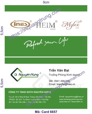 In card visit tại Kiên Giang