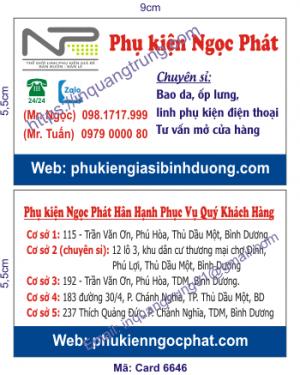 In card visit tại Phú Yên
