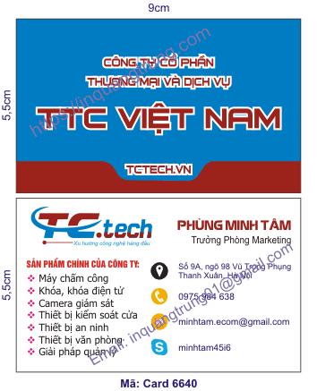 In card visit tại Quảng Trị