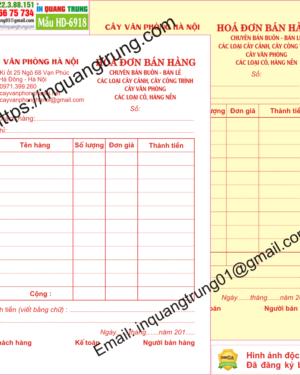 In hóa đơn bán hàng tại Bắc Giang