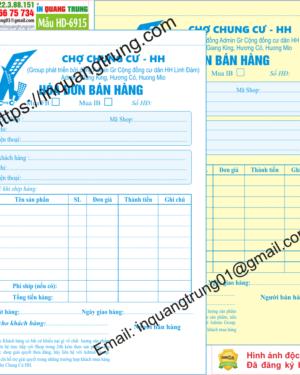 In hóa đơn bán hàng tại Bà Rịa - Vũng Tàu