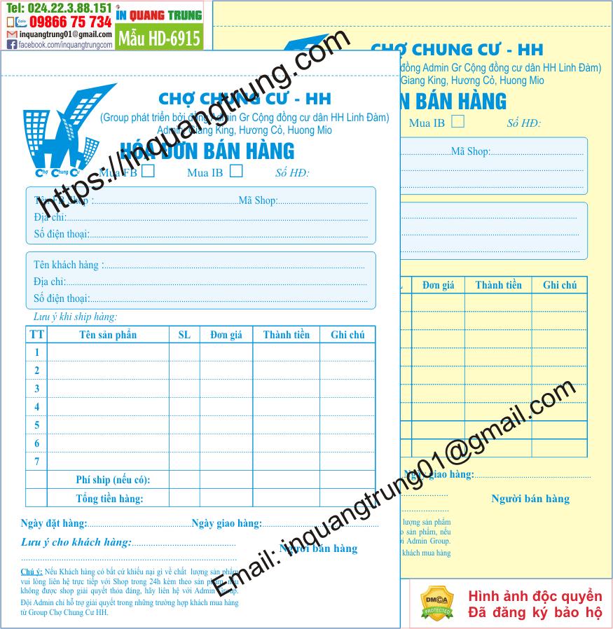 In hóa đơn ở tại Bà Rịa – Vũng Tàu