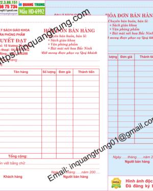 In hóa đơn bán hàng tại Cao Bằng