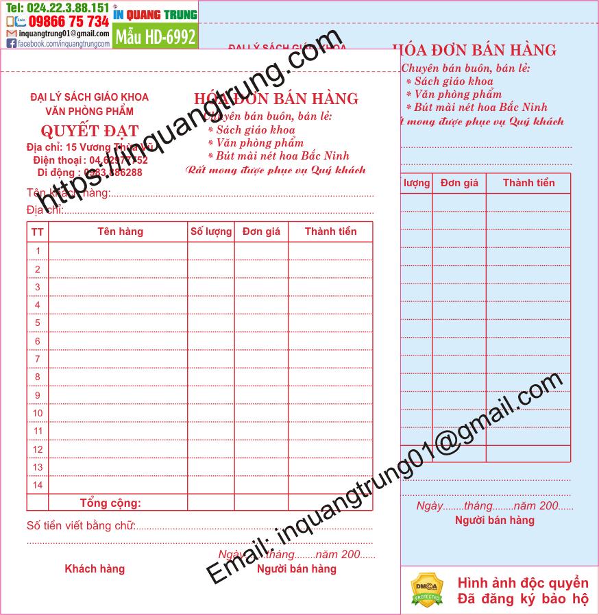 In hóa đơn tại Cao Bằng